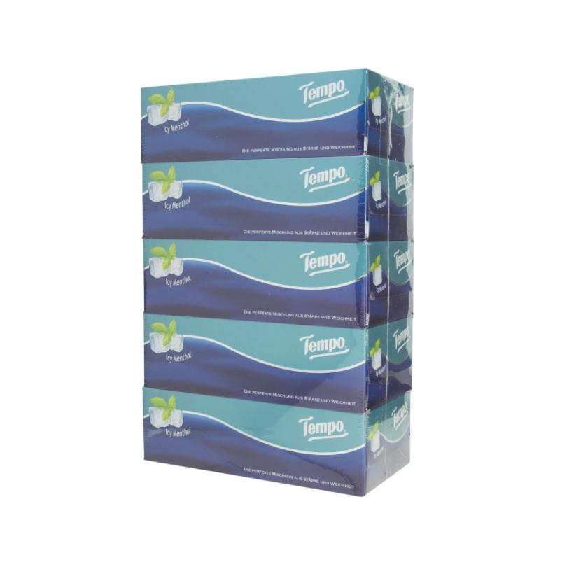 TEMPO盒裝紙巾冰爽薄荷味5盒