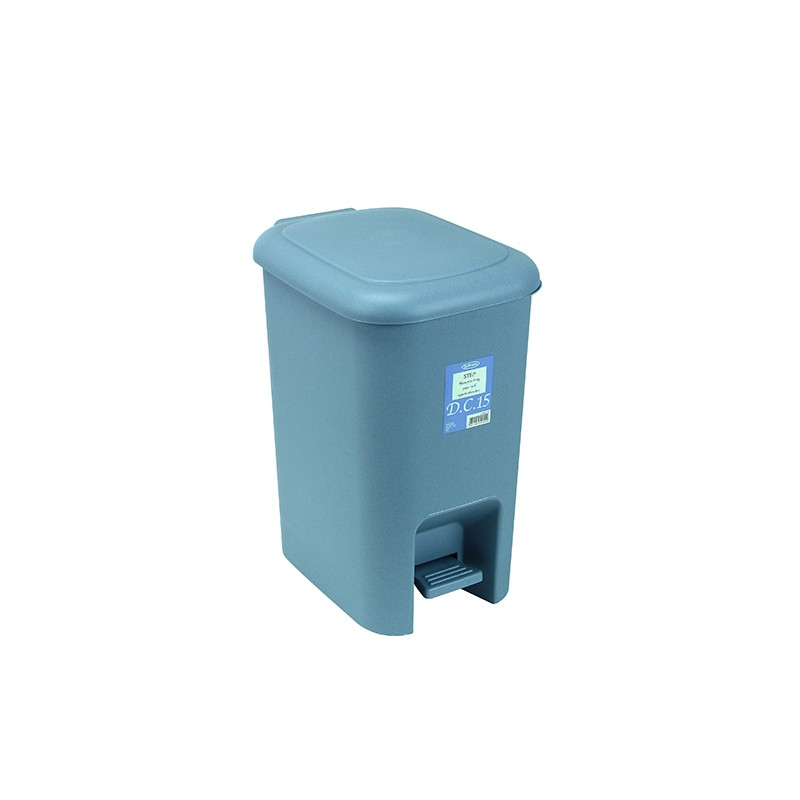 岩畸腳踏垃圾桶 16.3L (藍)