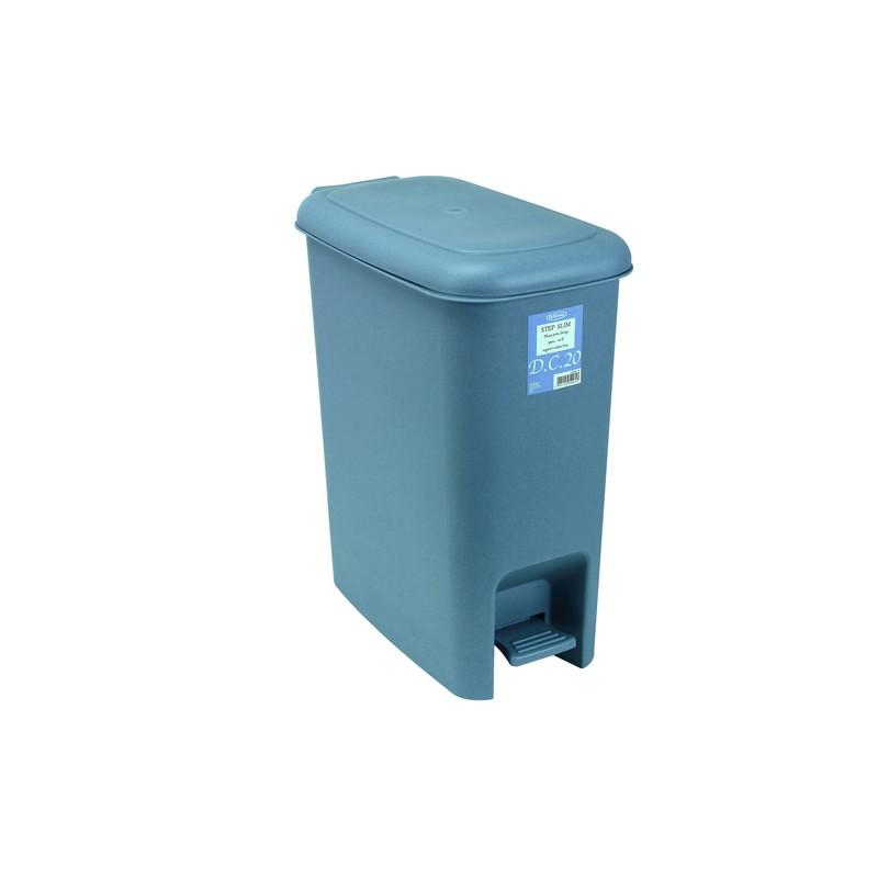 岩畸腳踏垃圾桶 21.4L (藍)