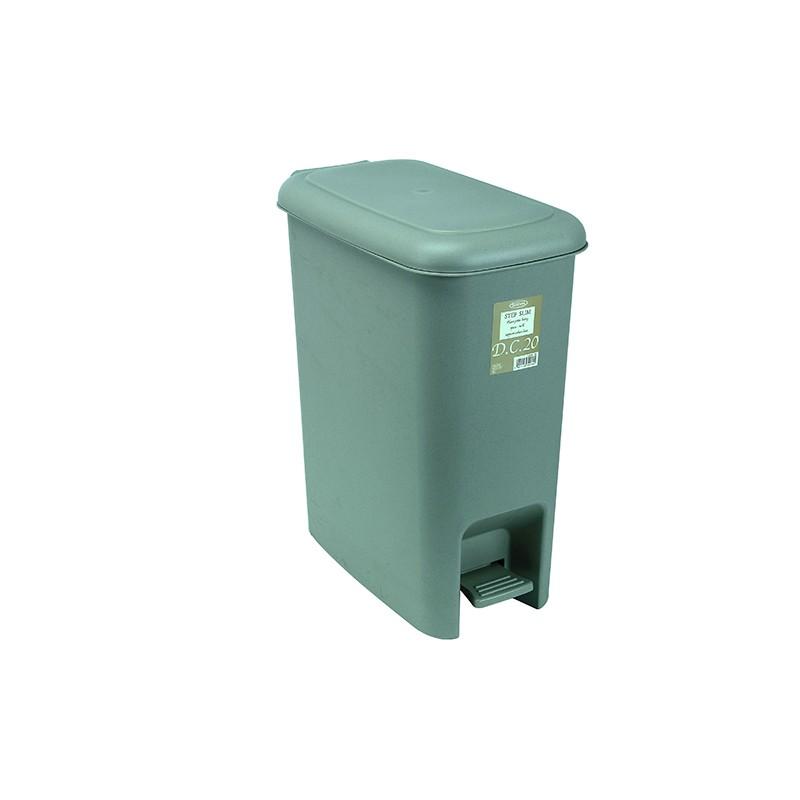 岩畸腳踏垃圾筒 21.4L (杏)