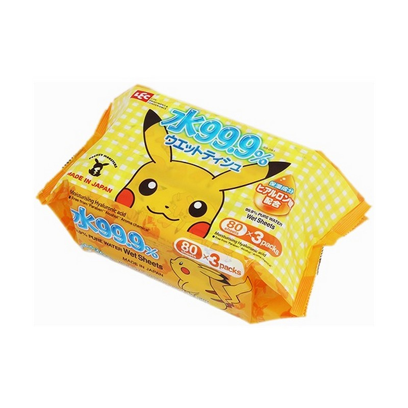 Pokemon 99.9% 純水濕紙巾80片(3包裝)
