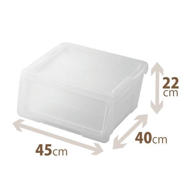 天馬揭門組合式儲物膠箱  透白 (小)