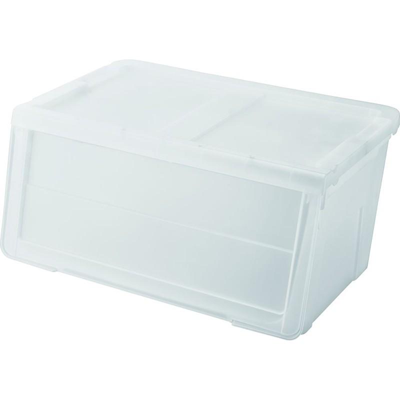 天馬揭門闊身組合式儲物膠箱(白色)
