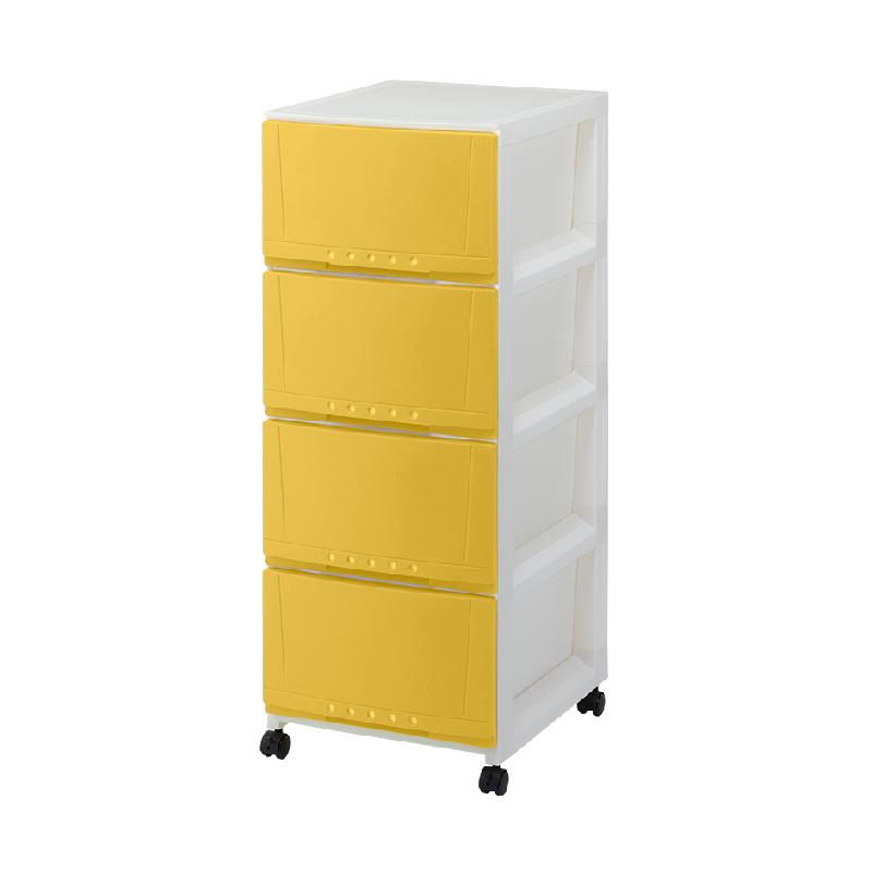 TENMA4層黃色有轆層柜