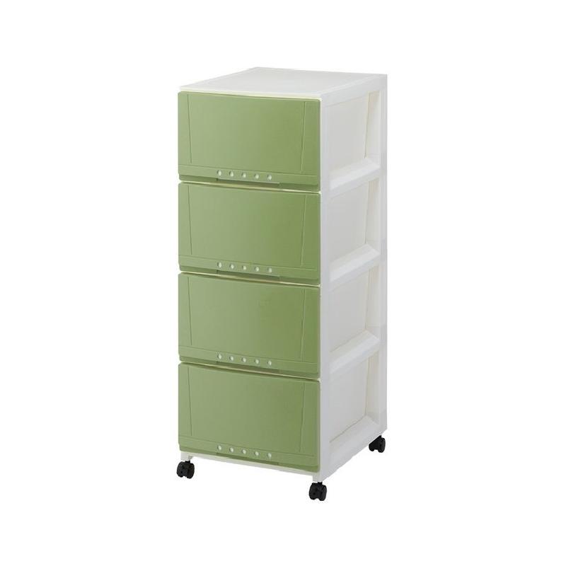 TENMA4層綠色有轆層柜
