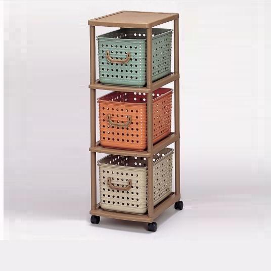IZUMI日本製3層有轆置物架連膠籃