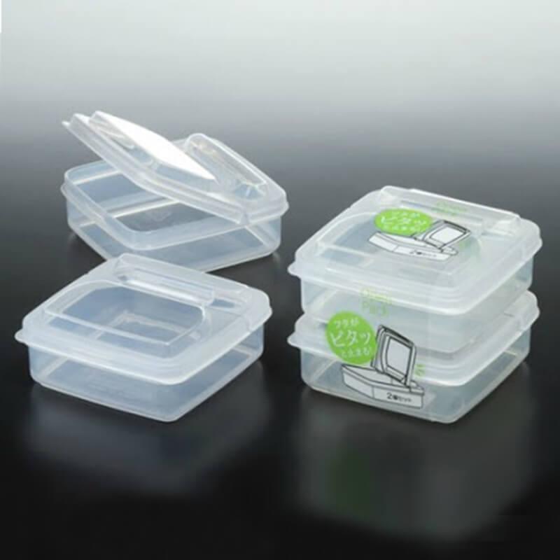 NAKAYA有蓋透明膠盒 260ml 2個