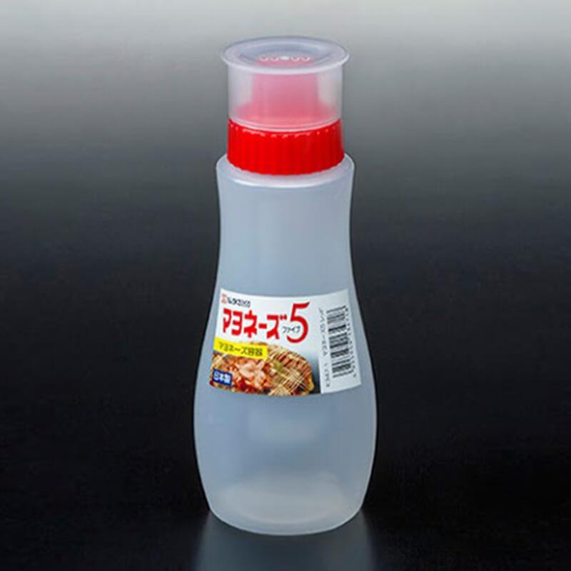 NAKAYA紅色有蓋醬汁膠樽