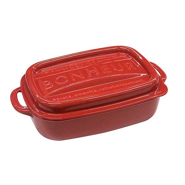 YAMADA雙耳食物盒-紅色