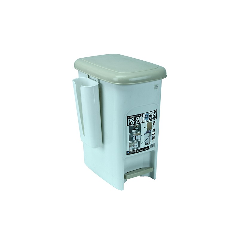 SANKO腳踏垃圾桶 21.5L (白)