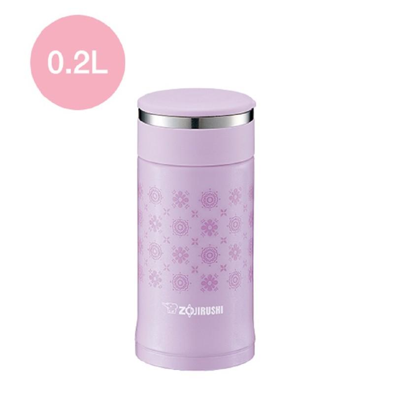 象印扭蓋保溫杯粉紫色