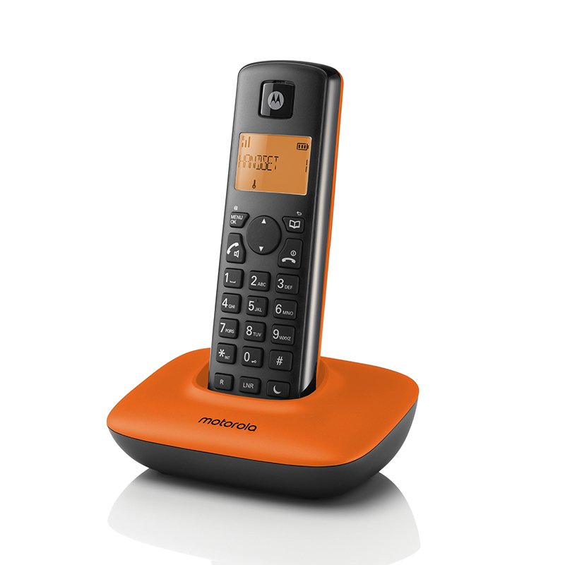摩托羅拉1.8GHZ數碼無線電話橙色