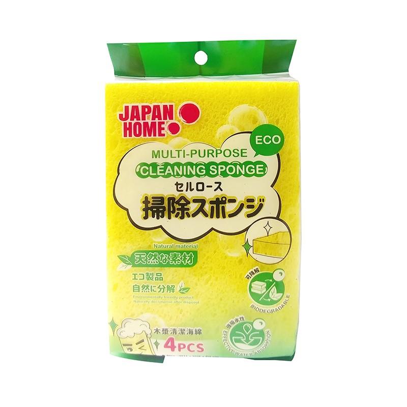 JAPAN HOME木漿清潔海綿4片