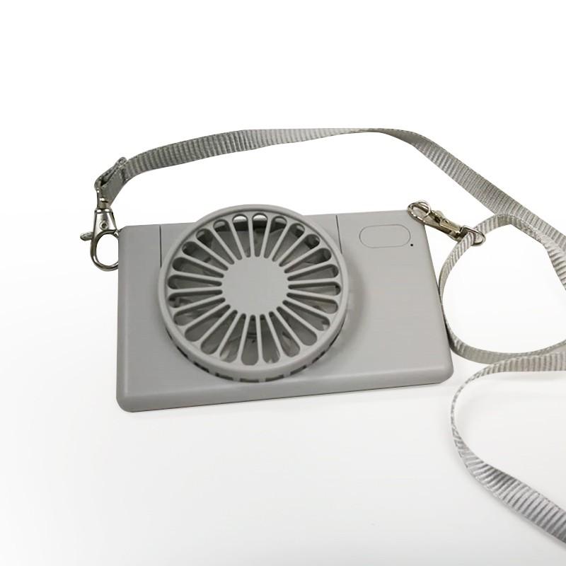 掛頸風扇-充電式自由調角度-冷灰
