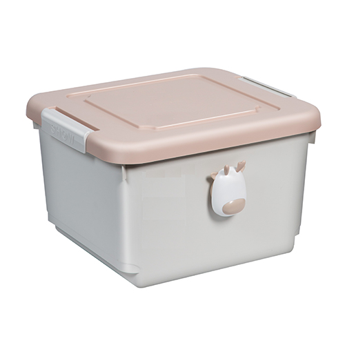 粉紅小鹿設計 收納箱-細