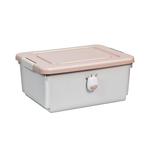 粉紅小鹿設計 收納箱-大