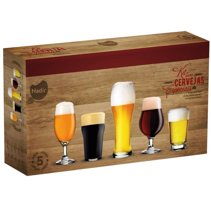 NADIR特色啤酒杯5件裝禮盒