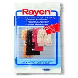 RAYEN透明掛衣套3片裝 S 65x100cm/25.5x39.5吋