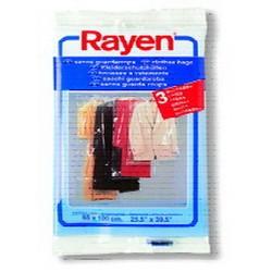 RAYEN透明掛衣套3片裝 L 65x150cm/25.5x59吋