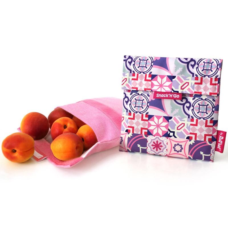 Snack'n'Go 環保食物袋-碎花紫色