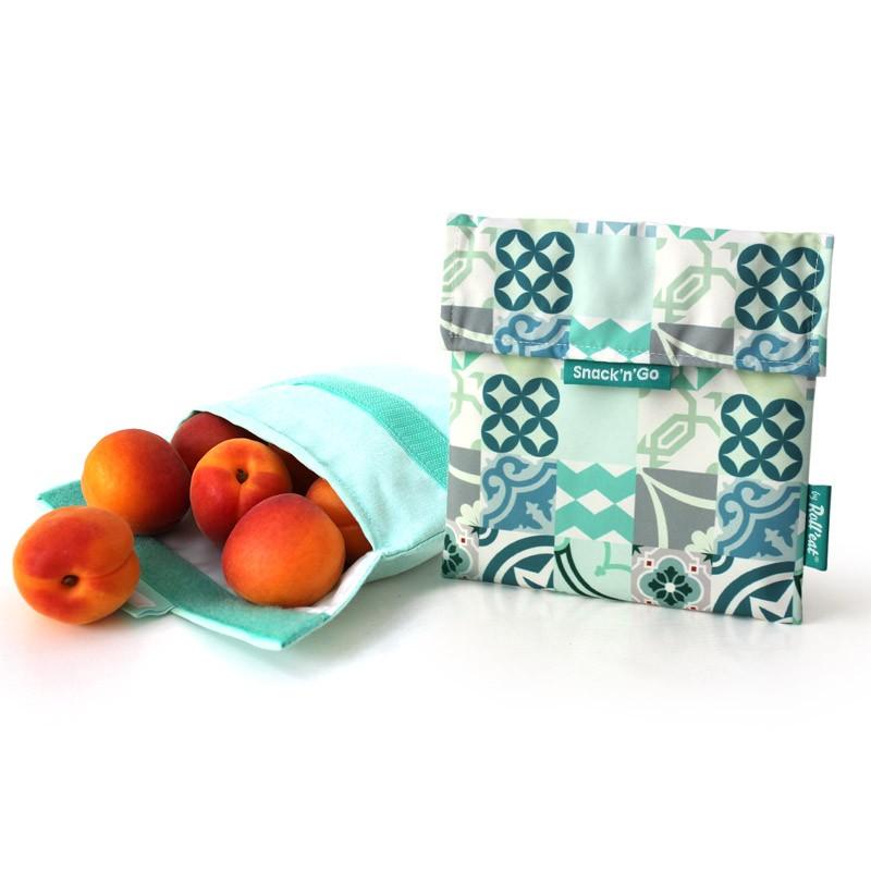 SNACK'N'GO環保食物袋-碎花綠色