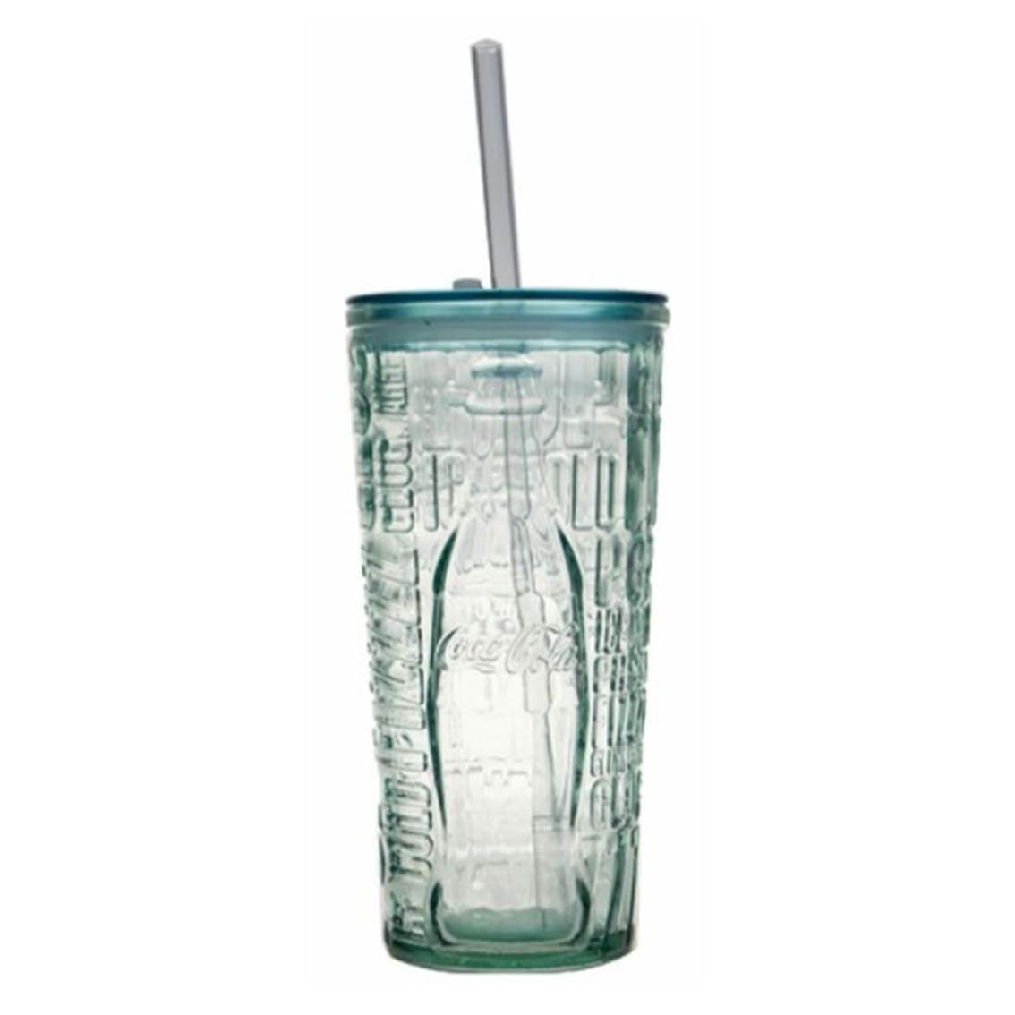 COCA COLA環保玻璃冷飾蓋杯