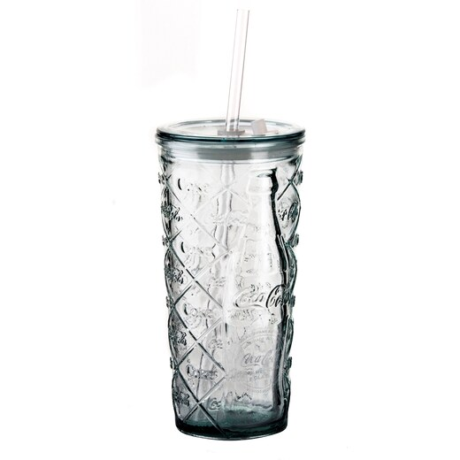 COCA COLA環保玻璃冷飲蓋杯