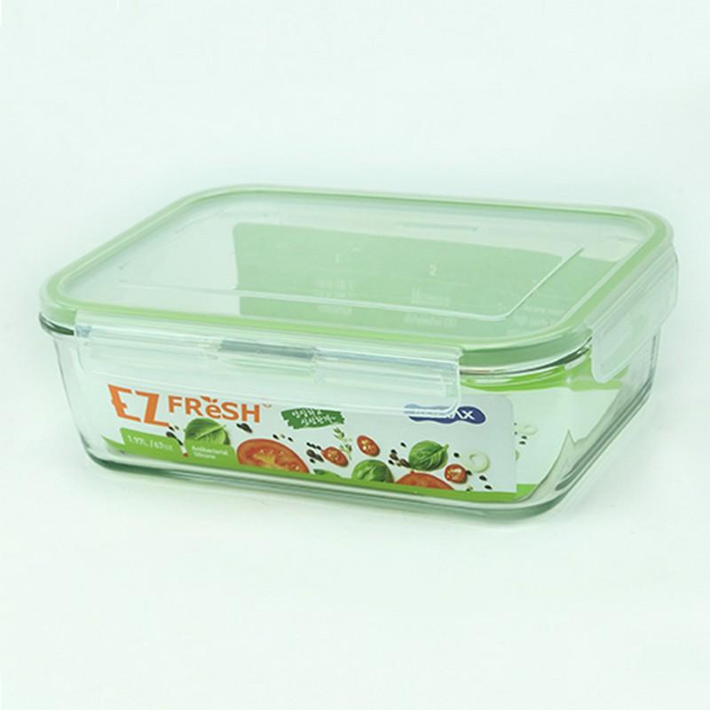 EZ FRESH微波爐用長方形玻璃食物盒