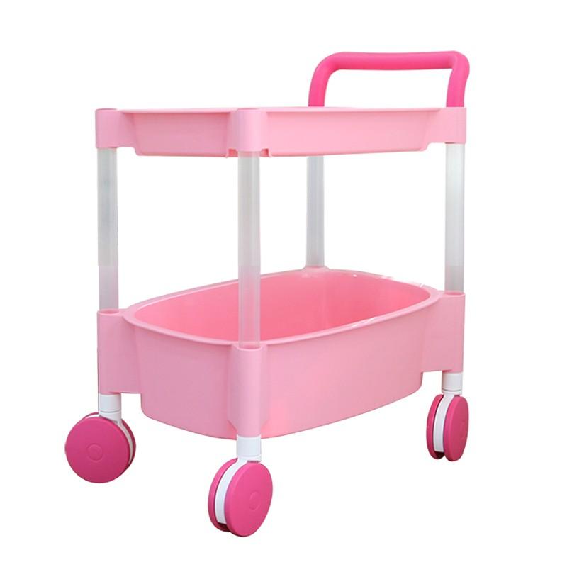 韓國製兩層手推車粉紅色