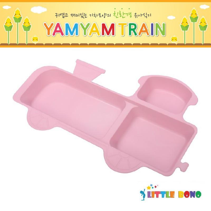 韓國Little bono小火車頭食物盤粉紅色