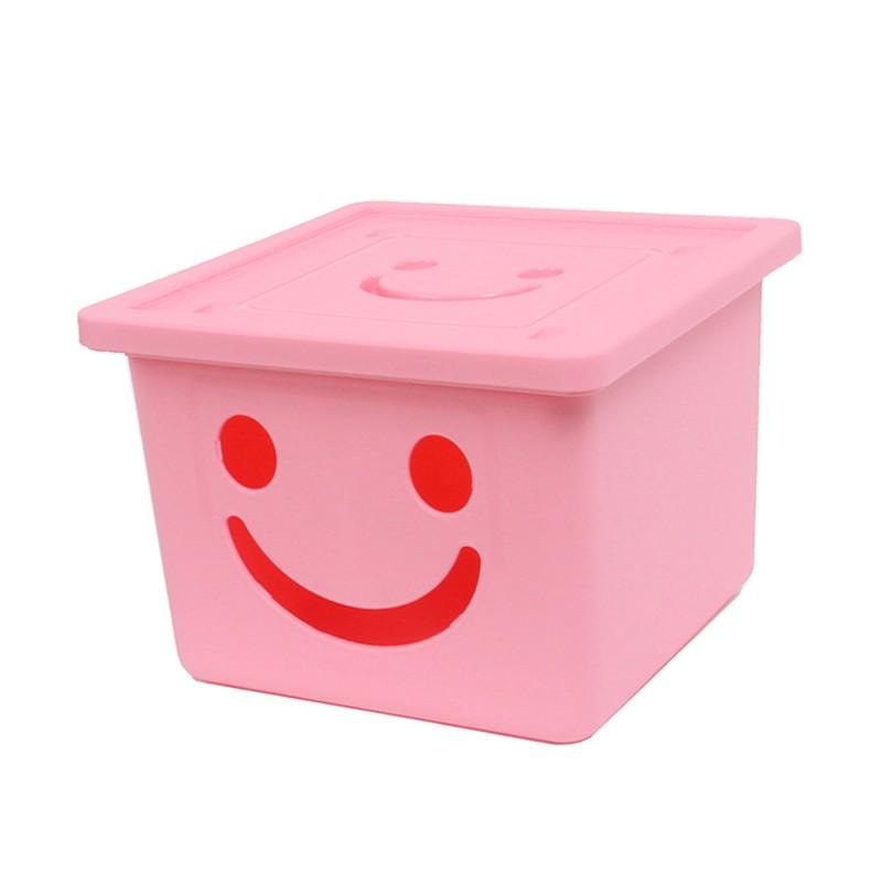 韓國Bonohouse快樂盒收納箱粉紅色