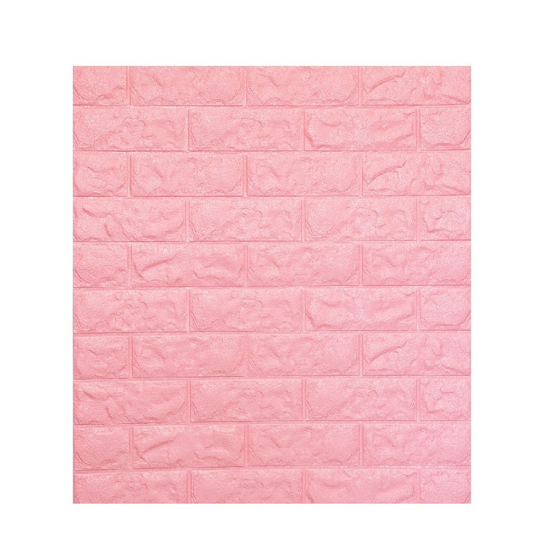 Q-ONE凹凸磚形DIY牆貼 (粉紅) 71x77x1cm