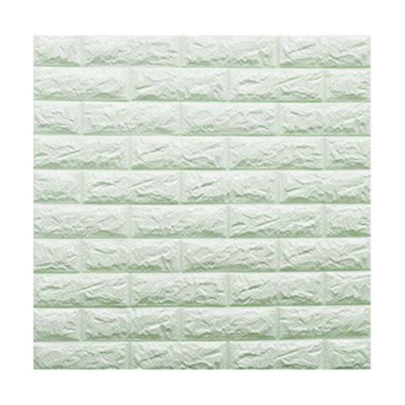 Q-ONE凹凸磚形DIY牆貼 (粉綠) 71x77x1cm