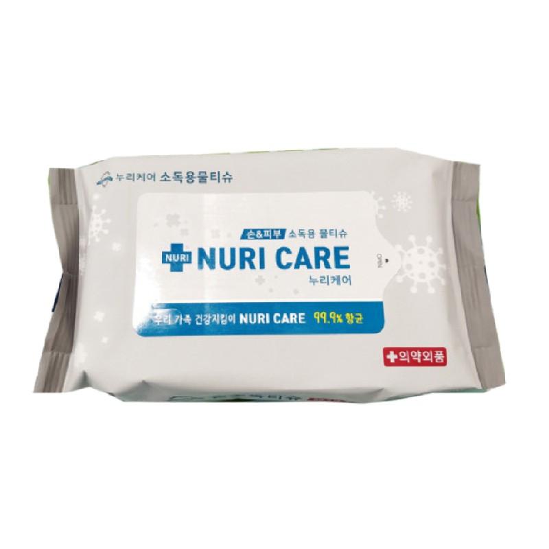NURI CARE消毒濕紙巾20片