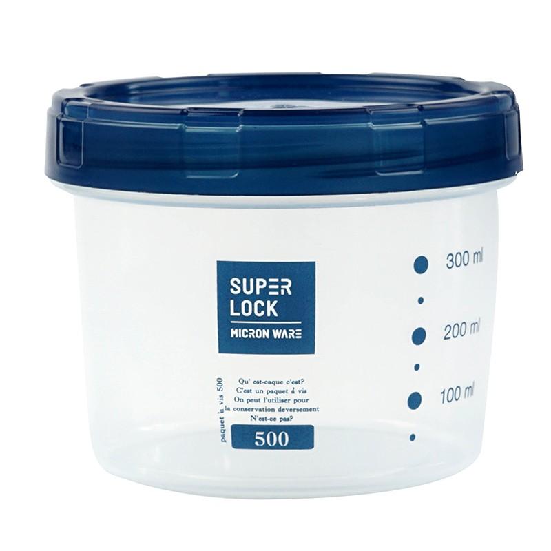 MICRON圓形量盒500ml(藍蓋)