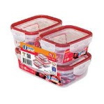 JCJ密封食物盒 (紅邊) 3件