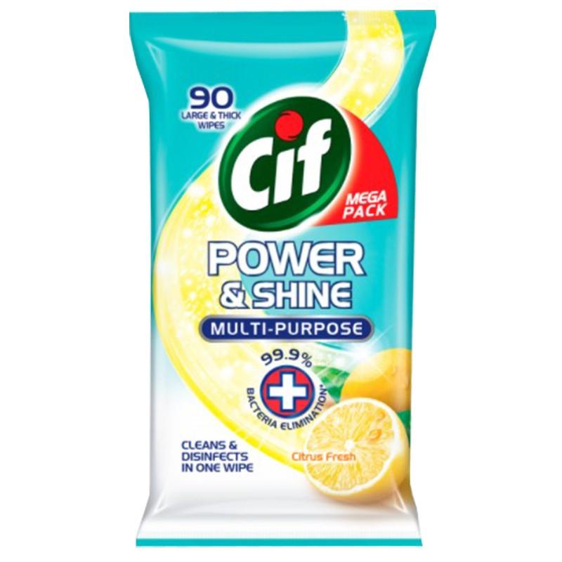 CIF多功能抗菌家居濕紙巾- 柑桔90片