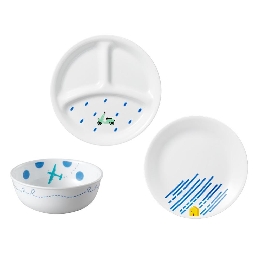 美國康寧餐具餐具套裝3件 蔚藍旅程
