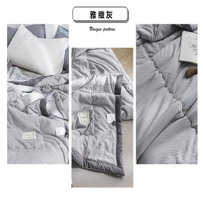 Aisuru日式雅緻灰色天然生態水洗棉冷氣被(單人)*供應商直送 限門市自取