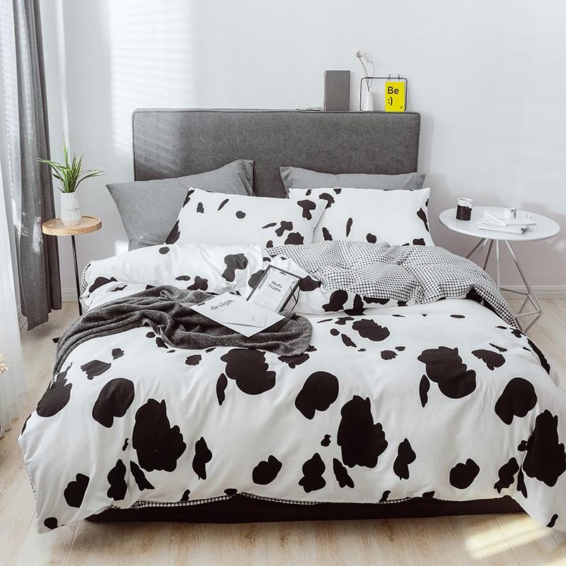 Aisuru1960針北歐款全棉床品套裝-牛奶纹  - 雙人加大