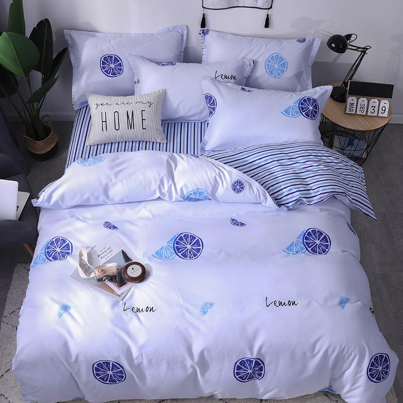 Aisuru1560針北歐款磨毛床品套裝-檸檬 -單人