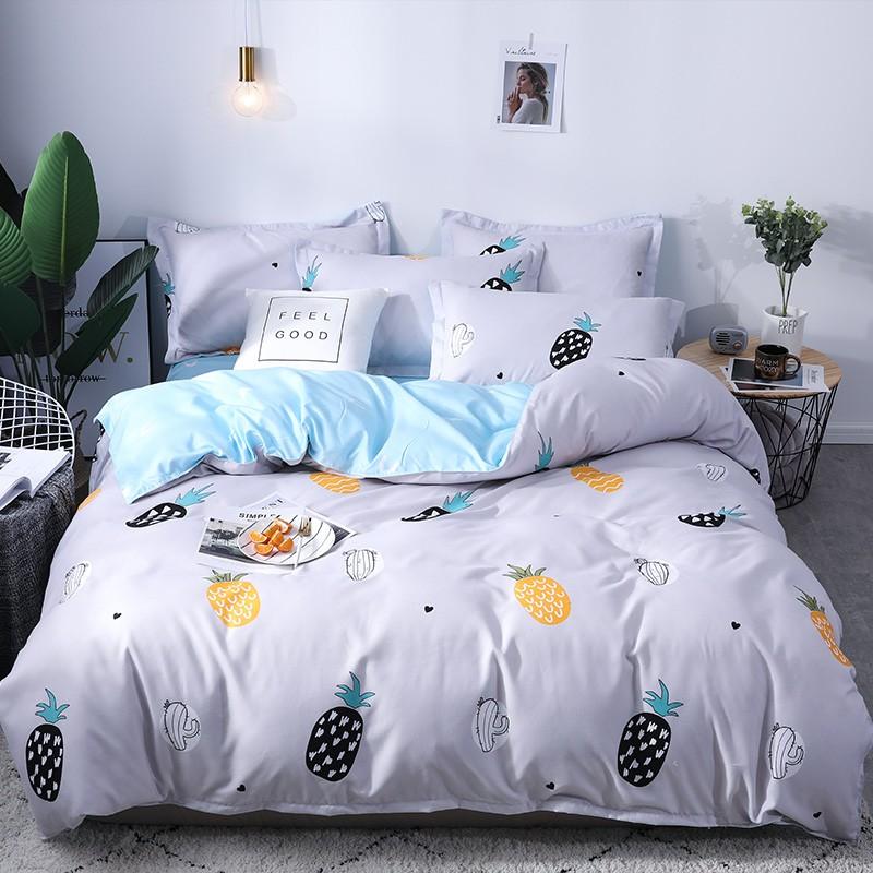 Aisuru1560針北歐款磨毛床品套裝-菠蘿 - 雙人加大