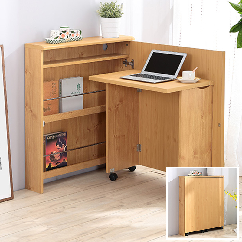 MR可摺疊多功能一體收納書桌組合