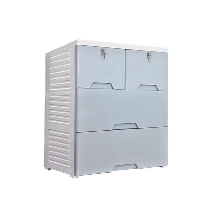 MR移動型抽屜式三層收納櫃MR-58133 藍色