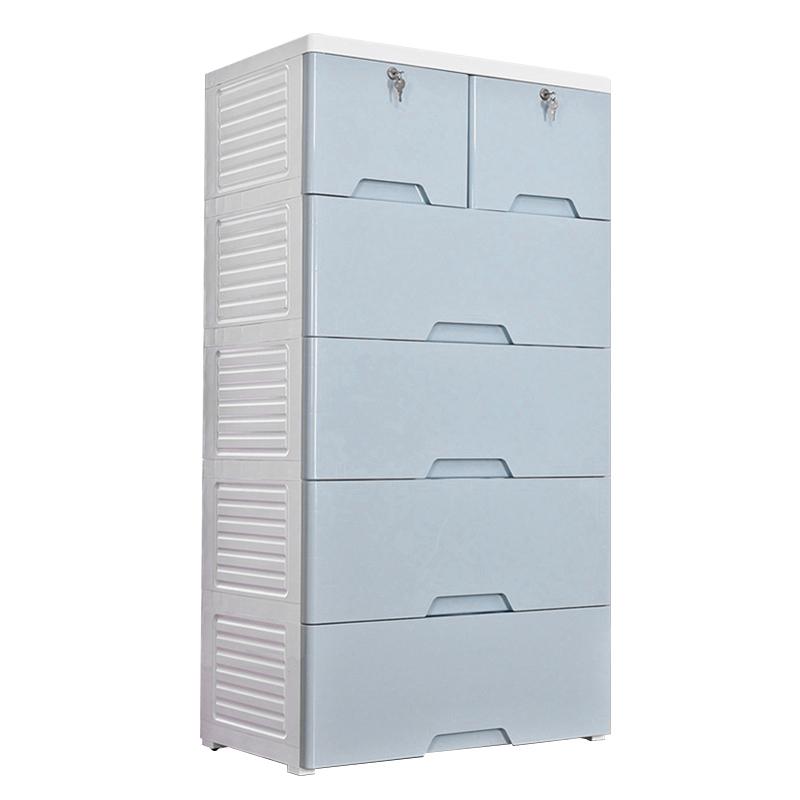 MR移動型抽屜式五層收納櫃MR-58135 藍色