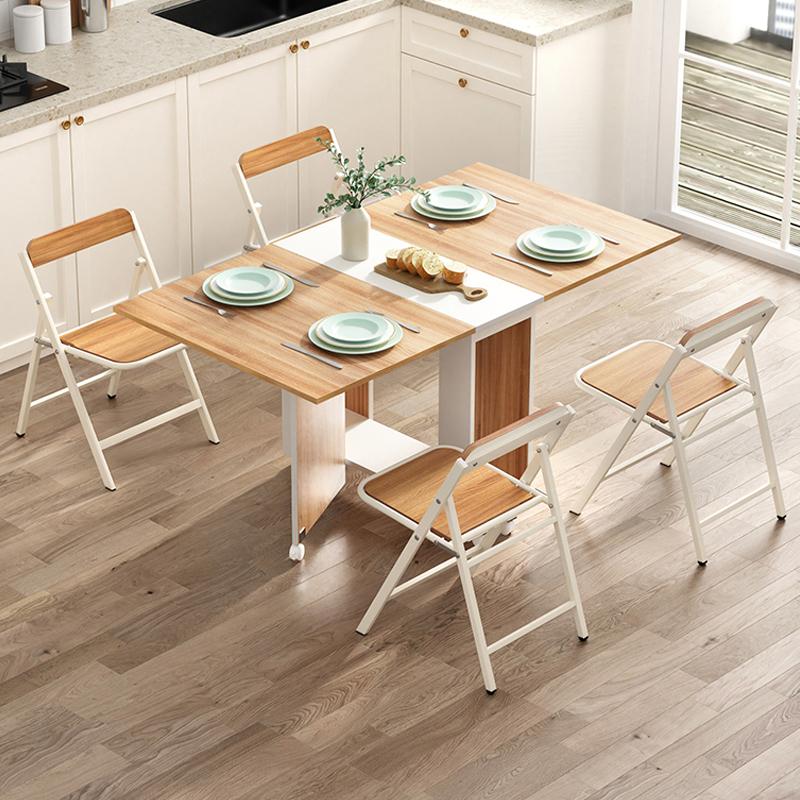 MR可移動摺疊桌椅1+4套裝WT043-10+SY003-11