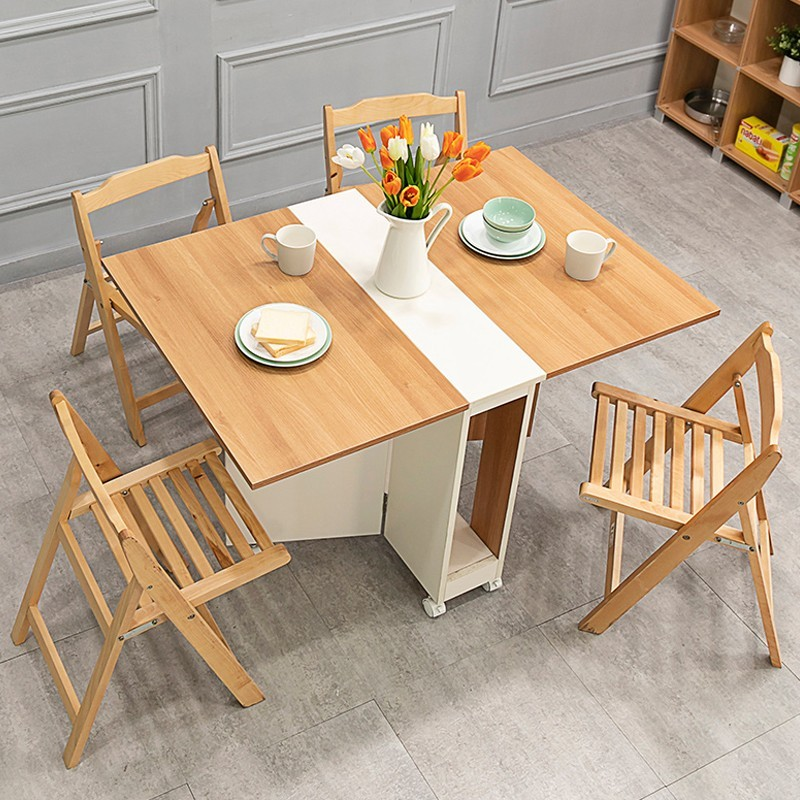 MRMR 可移動摺疊桌椅1+4套裝WT043-10