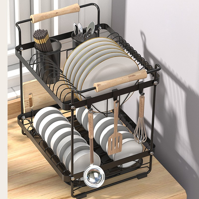 MR瀝水碗碟架-H41A30黑色