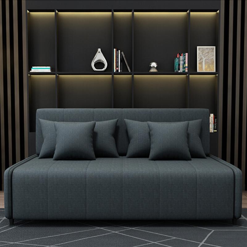 MR115cm多功能褶疊儲物布藝梳化床MR-6079黑色