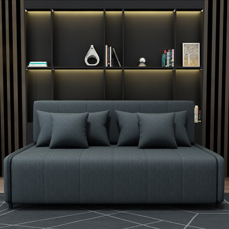 MR135cm多功能褶疊儲物布藝梳化床MR-6079黑色